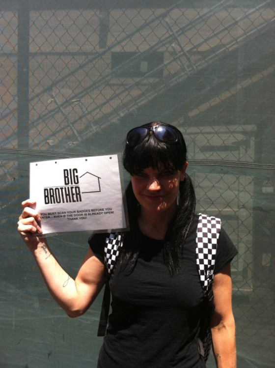 pauley perrette from NCIS in the big brother house