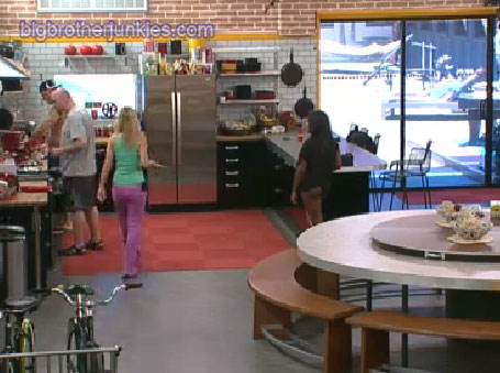 lunchtime in the big brother house