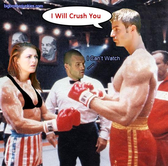 Jeff and Rachel battling