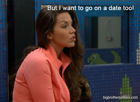 danielle looking jealous about the date