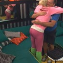 Janelle's big butt gives Joe an encouraging hug