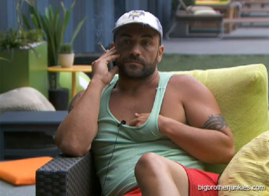 big brother 14 willie smoking outside