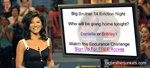 britney or danielle will be evicted