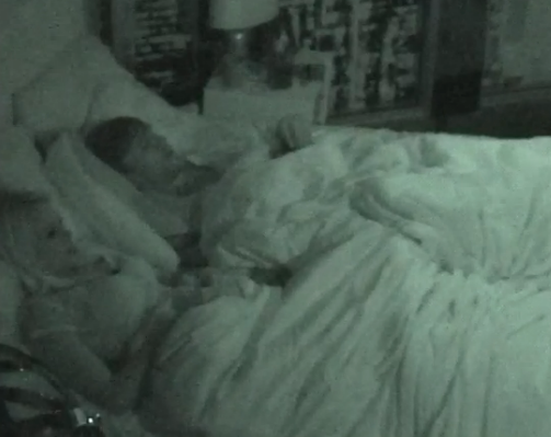 Jeremy and Aaryn in bed